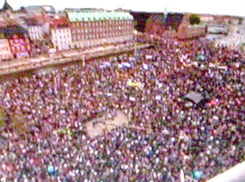 Christiansborg fra luften 17. maj 2006