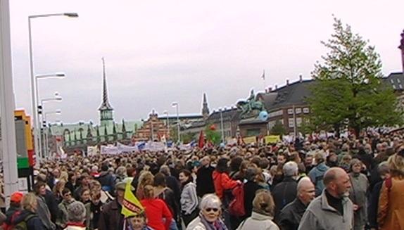 Fra 'Velfærd til alle'-demonstrationen 17. maj 2006