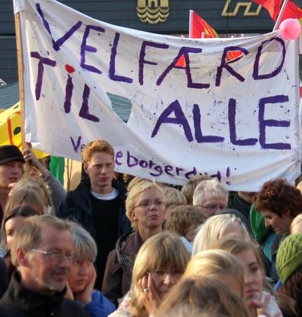 Fra stordemonstrationen 17. maj 2006 Velfærd til alle
