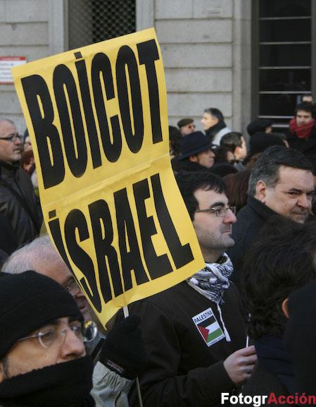Boykot Israel Madrid 11. januar 2009
