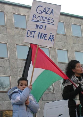 Gaza bombes ind i det nye år - Århus 2. januar 2009