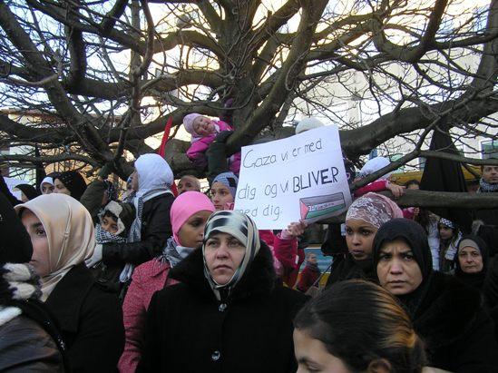 Gaza Vi er med dig og vi bliver med dig Børnetræ Århus 2. januar 2009