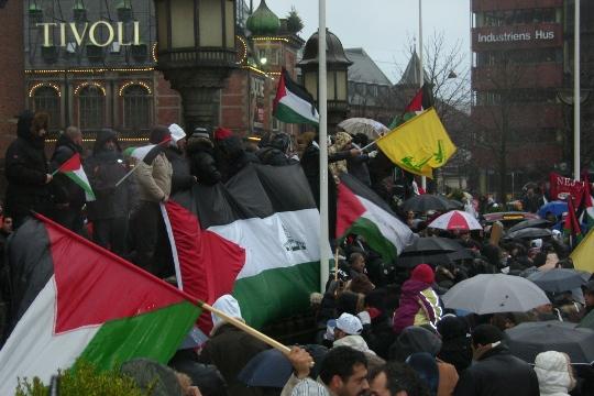 Gaza-demo Rådhuspladsen København 3. januar 2009
