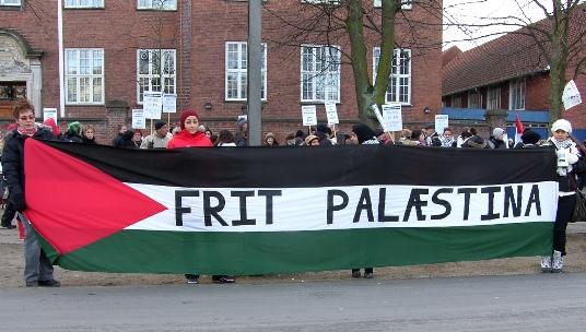 Demo ved den amerikanske ambassade 17. januar 2009