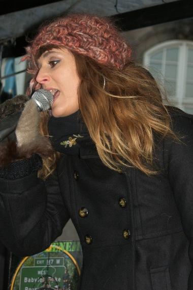 Billie Koppel Lad Gaza Leve demo Christiansborg Slotsplads 17. januar 2009
