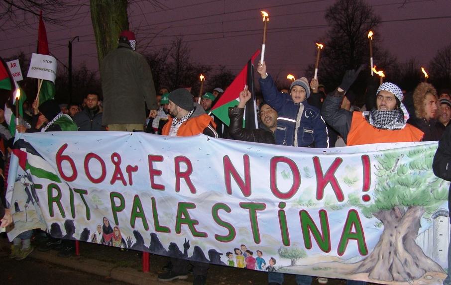 60 år er nok! Frit Palæstina