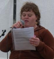 Cathrine Petersen Formand for DKU i Fælledparken 1. maj 2008