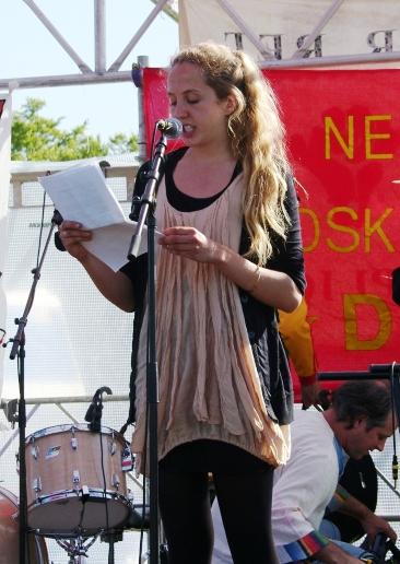 Aktivist fra KlimaX Den røde Plads 2009