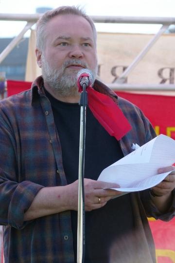Olaf Christiansen, tillidsmand, Trykkompagniet på Den røde Plads 1. maj 2009