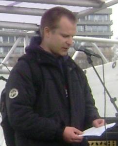 Silas Ørting taler 1. maj 2010 Den Røde Plads Fælledparken