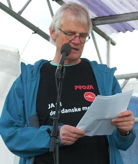 Peter Gulstad konfliktfyret tillidsamnd på CSC taler 1. maj på Den røde plads i Fælledparken