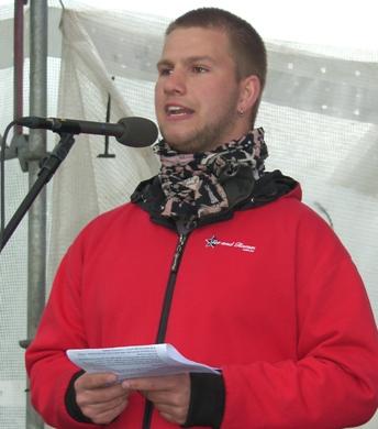 Esben Madsen, talsperson for Ungdom mod EU