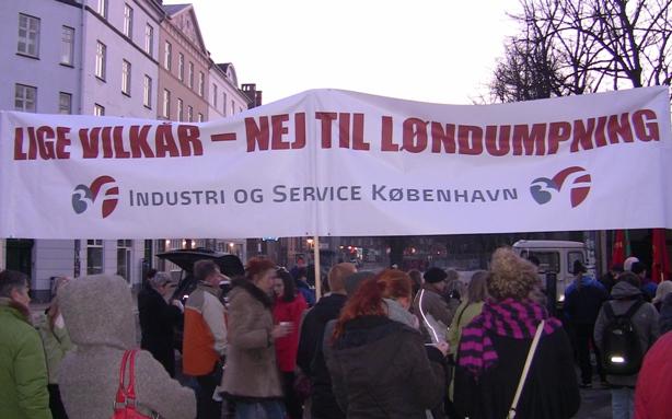 Mod løndumping Industri-Service 8. marts 2010