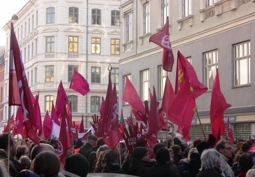 Starten på 8. marts demo 2010 Folkets Hus Rømersgade