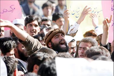 Kabul: Afghansk protest mod besættelsen