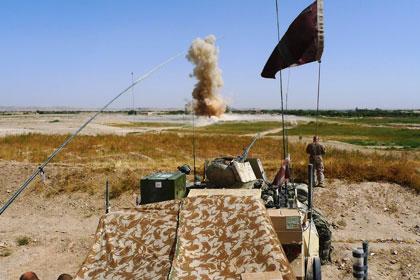 Danske kamptropper i Helmand provinsne Afghanistan