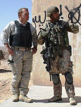 Lars Løkke hos ISA, Afghanistan Foto: HOK