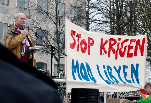 Kaj Rudi Rasmussen Demo mod Libyen-krig Århus 30. marts 2011