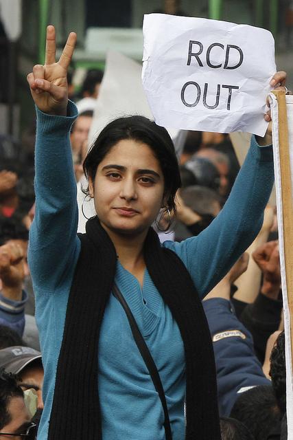 Den tunesike revolution februar 2011: Ud med Ben Alis parti!