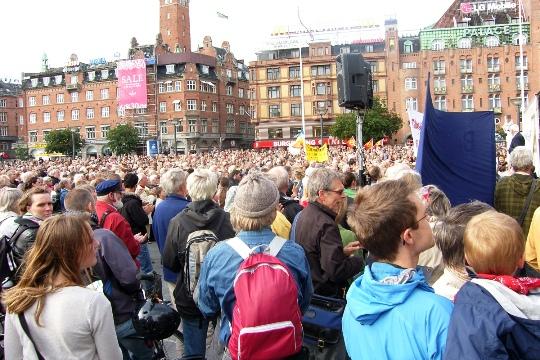 Stop tvangsudvisningerne Rådhuspladsen 18. juni 2009