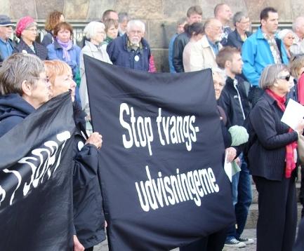 Stop tvangsudvisningerne Christiansborg 18. juni 2009