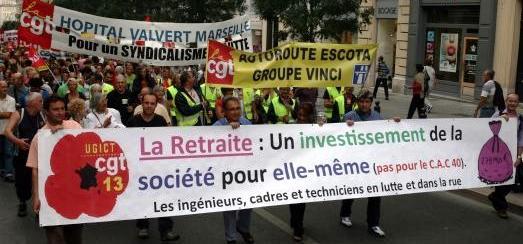 Pensionsprotest Paris 7. september 2010
