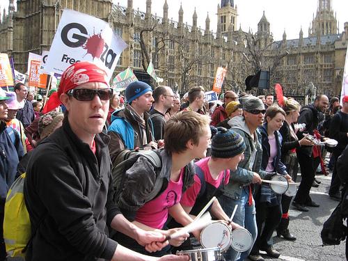 G20 mødet i London var ledsaget af store protester i gaderne og morderisk politivold
