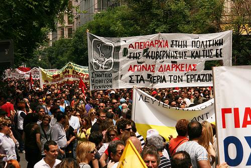 Fra den græske generalstrejke 5. maj 2010