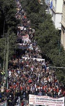 Gerækenland: Millioner har været på gaden mod de Eu og IMF-dikterede spareplaner
