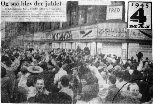 4. maj 1945 Befrielsen fejres på Raadhuspladsen i København