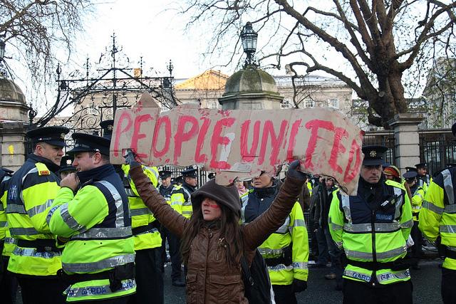 Protest mod EU's krisediktat i Dublin 7. november 2010