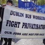 Kampen mod nyliberale privatiseringer er international Her irske buschauffører i Dublin