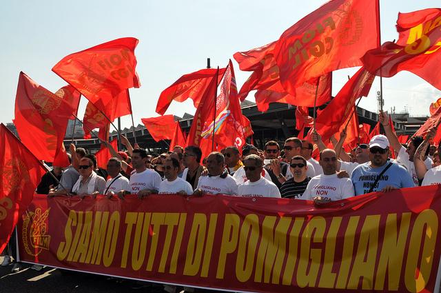 Strejkende Fiat-arbejdere