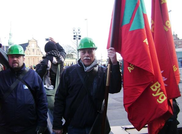 Faglige faner ved klimademonstrationen 12. december 2009