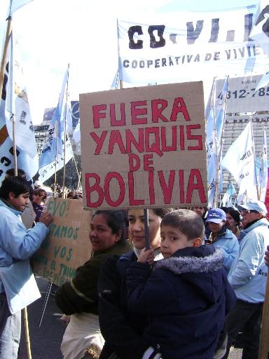 Solidaritetsdemo med Bolivia Buenos Aires 15. september 2008