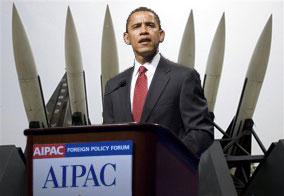 Obama taler til den israelske lobby i USA AIPAC