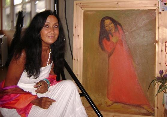 2 xAnnisette: Koncertportrættet af Annisette Koppel var en fødselsgave til hende fra maleren Jørgen Buch og kammerater