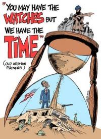 Gammelt afghansk ordsprog: I har urene - Vi  har tiden
