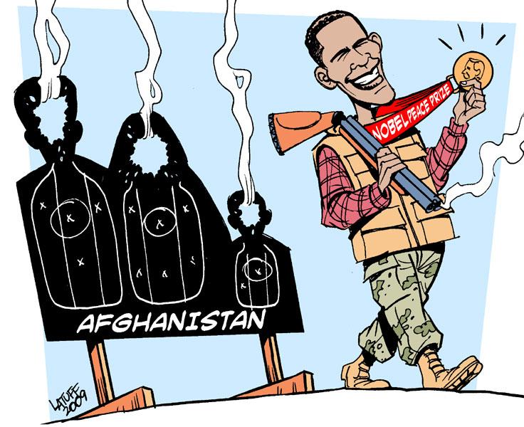 Nobels Fredspris til Barack Obama Af Carlos Latuff