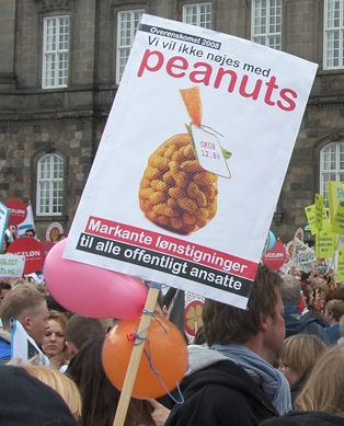Demo Christiansborg Sundhedskartellet 17. april 2008