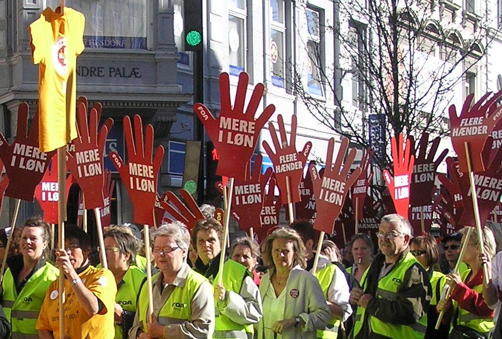 FOA og Sundhedskartellet demonstrerer i Århus 22. april 2008