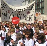 Sundhedsarbejdere i demo Århus