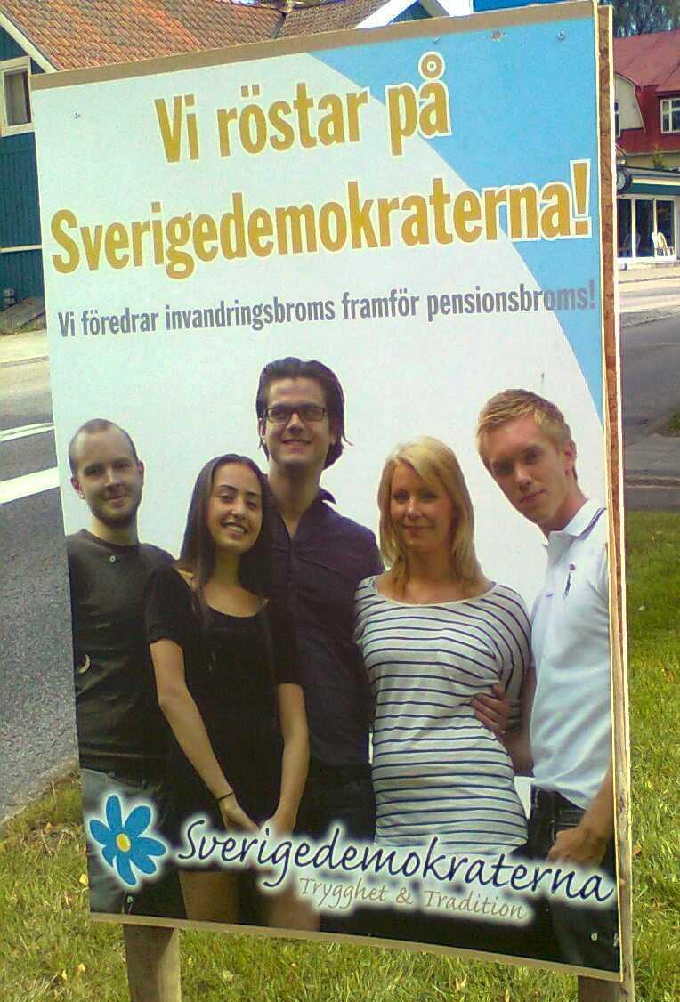 Sverigedemokraterna henvendte sig direkte til ungdommen i deres valgkamp (Foto: KP)