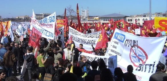 Anti-NATO-demonstration Istanbul 4. april 2009