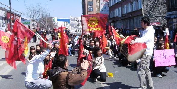 EMEP-sektion Anti-NATO demonstration Istanbul 5. april 2009