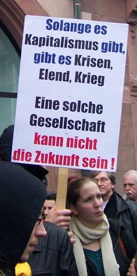 Tyskland 28. marts 2008: Kapitalismen har ingen fremtid