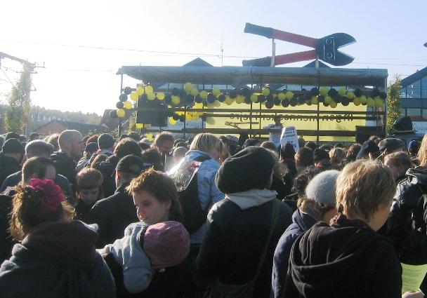 Demoen starter efter togsabotage ved Allerød Stationsplads