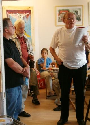 B.C.Andersen læser digte i Oktober Bogbutik & Galleri Kbh