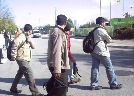 Fire indere tilkaldt som skruebrækkere vender om da det går op for dem at de er lokket til CSC under falske forudsætninger (Foto: KP)