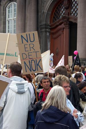Sosu demo ved Christiansborg 2008